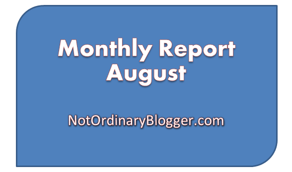 Monthly Report Cover