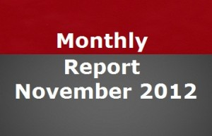 Blog Progress Report November 2012