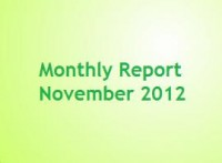 Monthly report November 2012