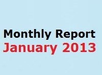 Monthly Report January 2013