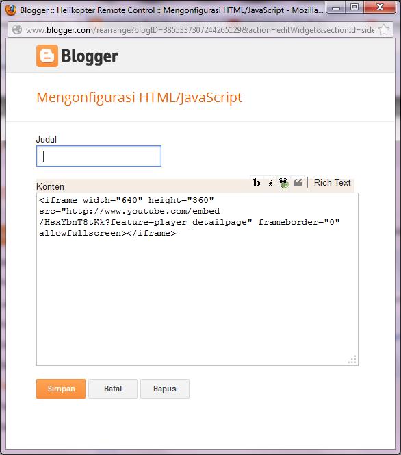 Edit Video HTML