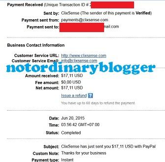 Bukti Paypal Clixsense Juni 2015