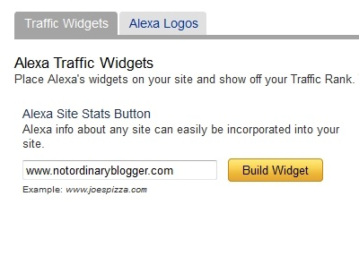 Pasang Widget Alexa di Blog