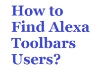 Ways to Find Alexa Toolbars Users
