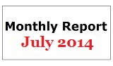 Monthly Report July 2014
