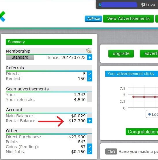 Neobux After Transfer Balance 25 September 2014