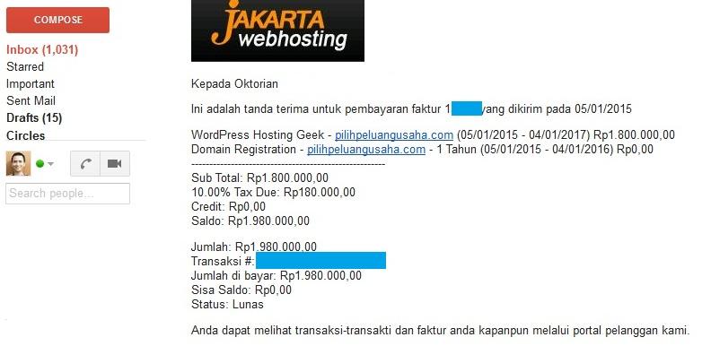 Buktibayar JakartaWebhosting