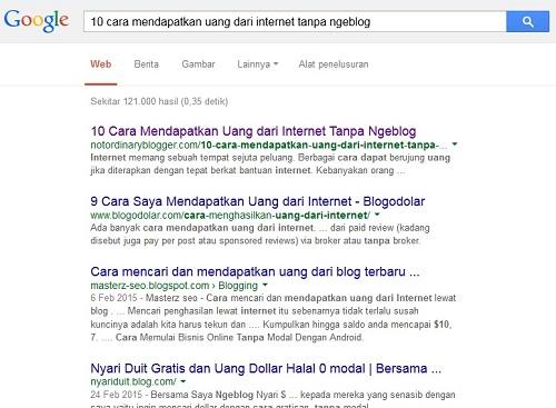 Cara Cek Posisi Artikel di Google 1