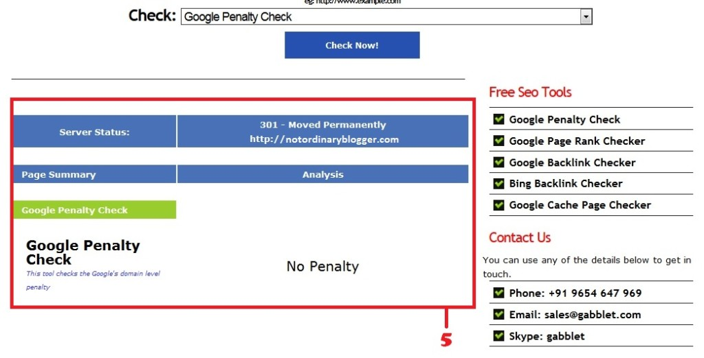 Periksa Penalty Google 2