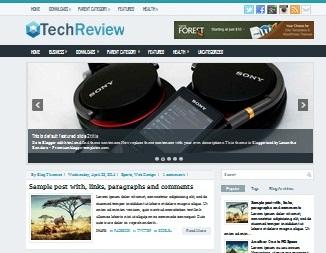 Download Template Tema Teknologi TechReview Sneakpeak