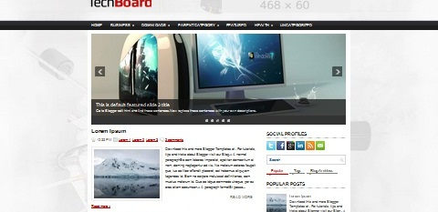 Download Template Tema Teknologi Techboard SneakPeak