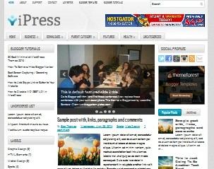Download Template Tema Teknologi iPress Sneakpeak