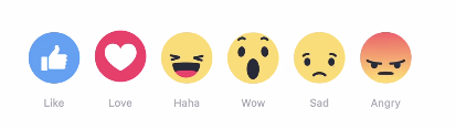 Ilustrasi Facebook Reactions