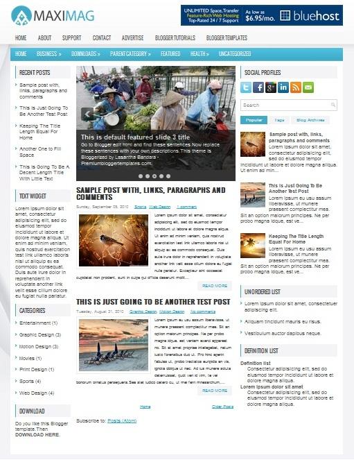 Template Blogger Maximag (gambar)
