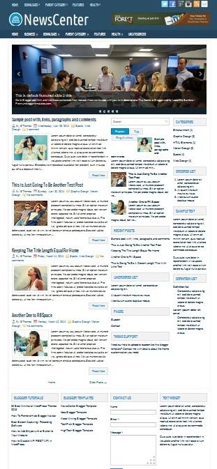Template Blogger News Center (gambar)