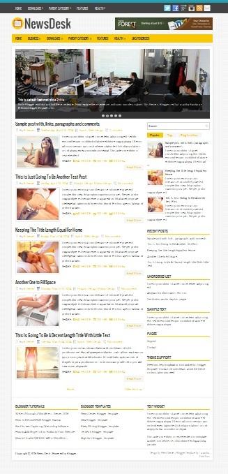 Template Blogger News Desk (gambar)
