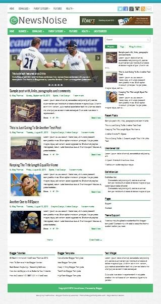 Template Blogger News Noise (gambar)