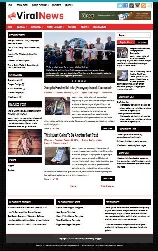 Template Blogger Viral News (gambar)