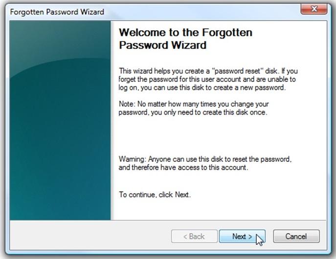 Cara Membuat Password Reset Disk 3