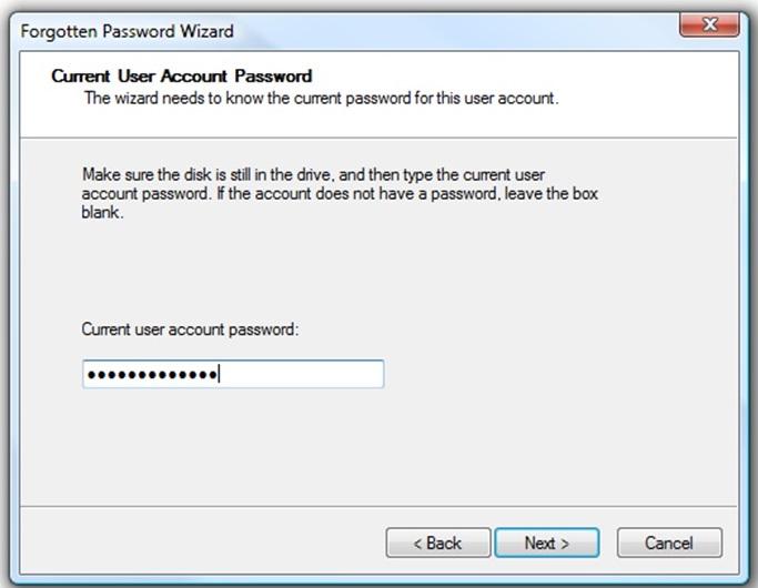 Cara Membuat Password Reset Disk 5