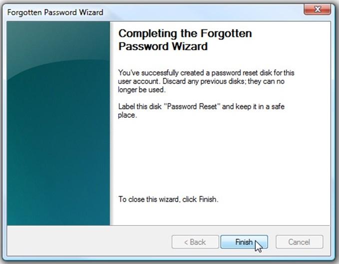 Cara Membuat Password Reset Disk 6