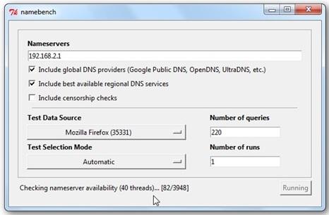 Cara Menemukan DNS Server Tercepat Pakai Namebrench 3