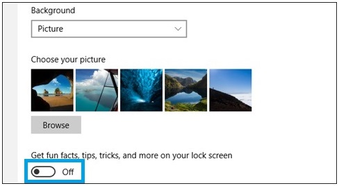 Hilangkan Iklan Pada Windows 10 Lock Screen 5