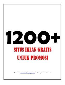 Daftar 1200 situs iklan gratis