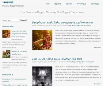 Prosume-Blogger-Template