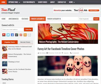 TruePixel Blogger Template