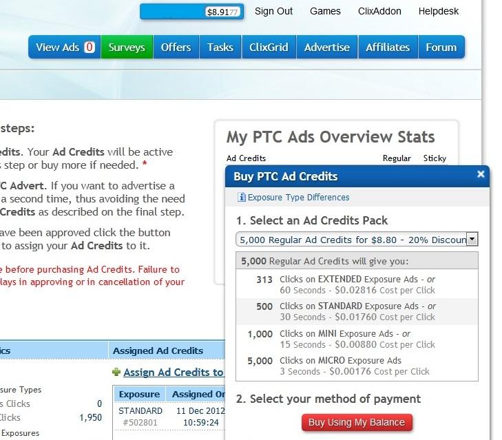 PTC advertising price