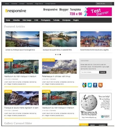 BR Responsive Blogger Template Gratis Siap Adsense
