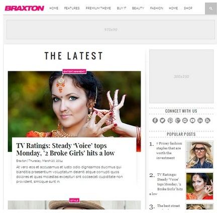 Braxton Blogger Template Gratis Siap Adsense