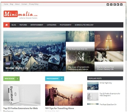 Minimalia Blogger Template Gratis Siap Adsense