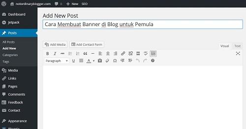 Upload Banner ke Blog 1