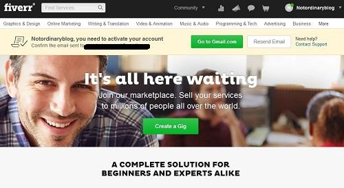 Info Lowongan Kerja Fiverr Verifikasi Email