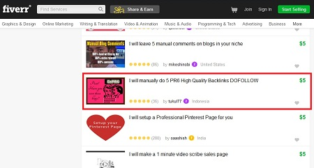 Lowongan Kerja Fiverr Indonesia Online Marketing 5