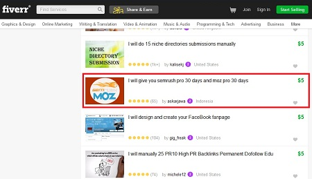 Lowongan Kerja Fiverr Indonesia Online Marketing 6