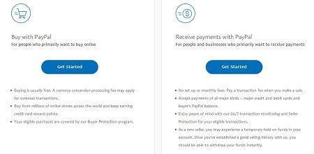 Cara Membuat Akun Paypal Pilih Jenis Akun