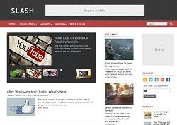 Download Template Tema Teknologi Slash Sneakpeak