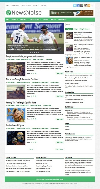 Template Blogger News Noise (gambar)