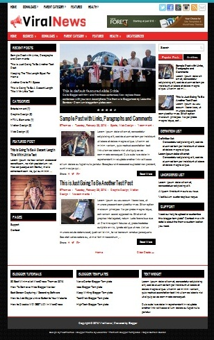 Template Blogger Viral News (gambar)