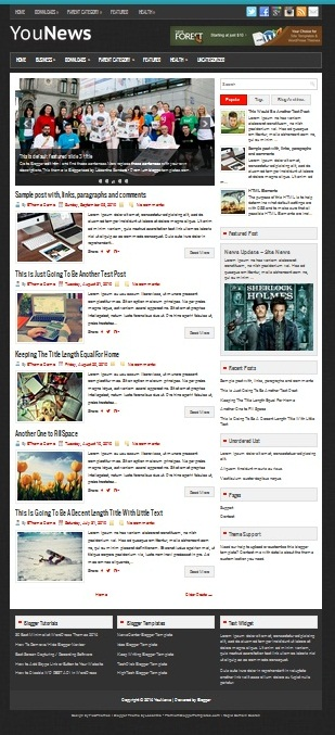 Template Blogger YouNews (gambar)