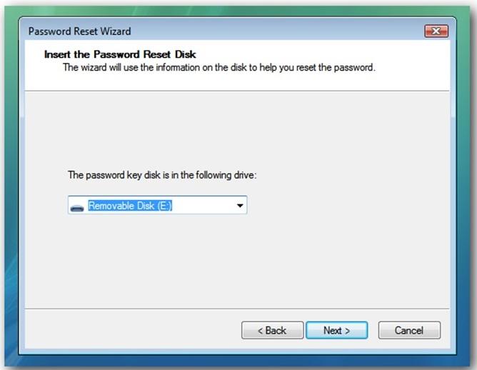 Cara Membuat Password Reset Disk 10