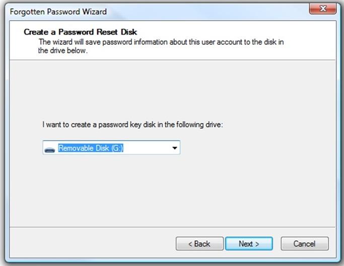 Cara Membuat Password Reset Disk 4