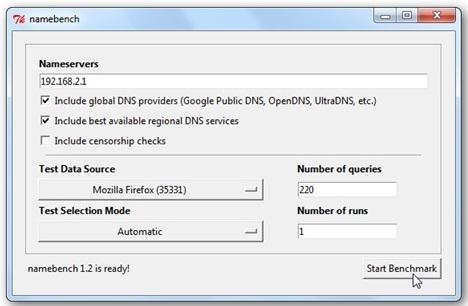 Cara Menemukan DNS Server Tercepat Pakai Namebrench 2