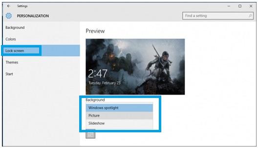 Hilangkan Iklan Pada Windows 10 Lock Screen 3